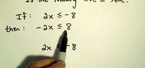 Figure our the properties of inequalities