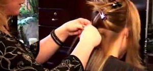 Attach hair extensions for longer hair