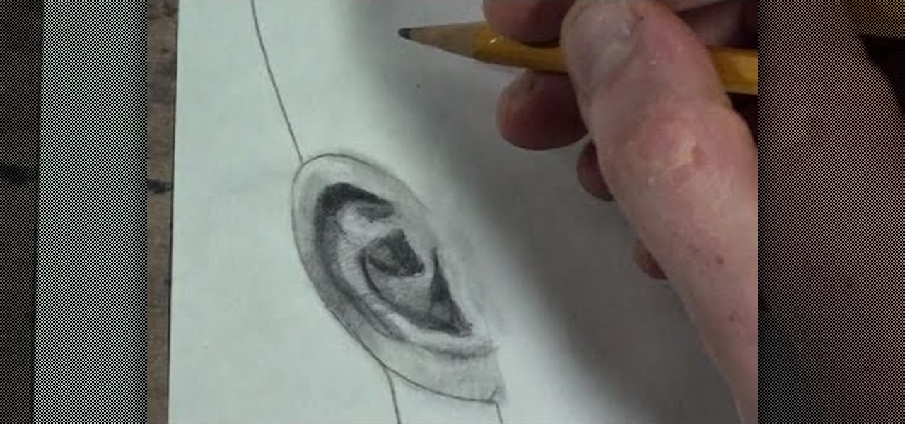 How to Draw the human ear in profile, frontal and 3/4 view ...