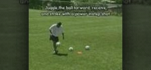 Practice juggling shots in soccer
