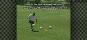 Practice juggling shots in soccer