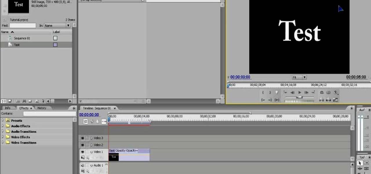 How to Make basic titles using Adobe Premiere Pro CS3. cs3 adobe p