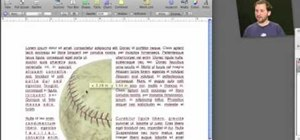 Wrap text around an image in Apple iWork Pages