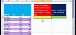 Base one data validation list on another in MS Excel