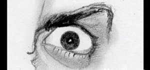 Master drawing an angry human eye in two minutes
