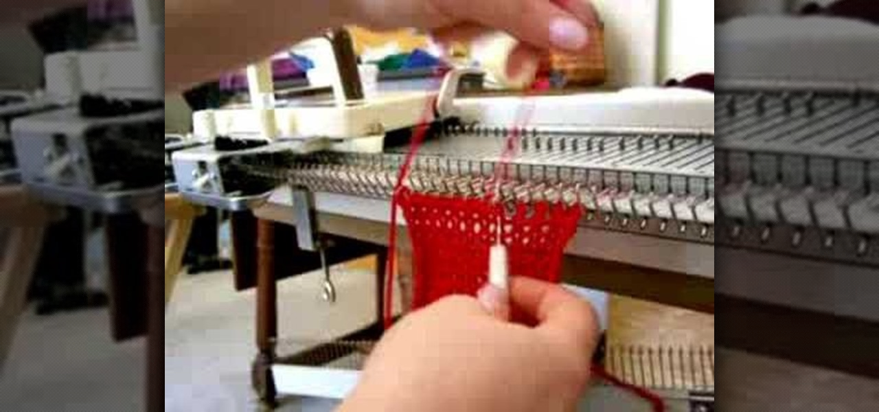 Knitting Machine For Home : How to crochet a cast off with knitting machine