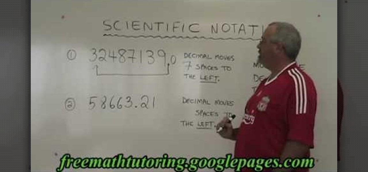 How To Convert Large Numbers Into Scientific Notation Math
