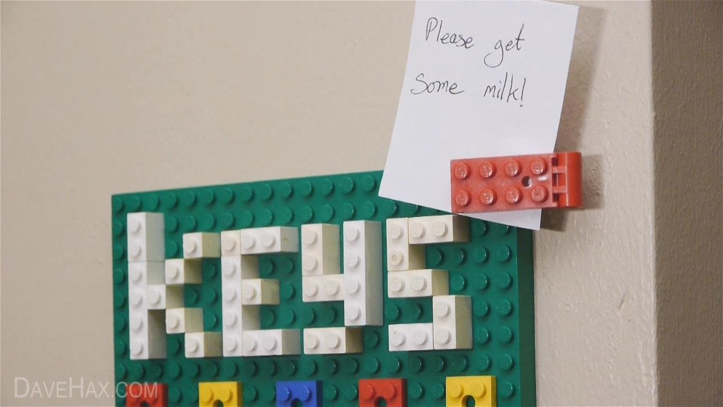 How to Make a Lego Key Holder and Note Clip