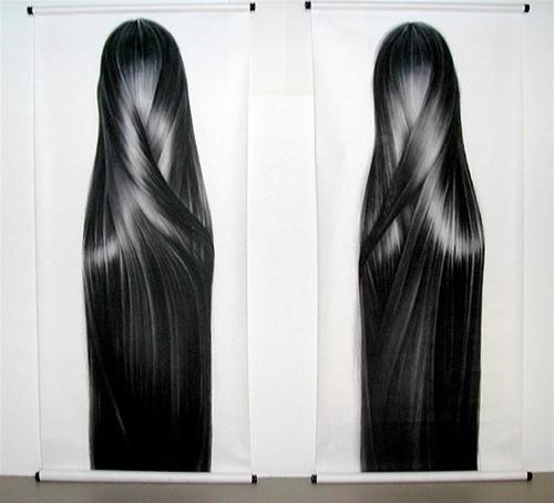 Meticulously Hand Drawn Photorealistic Hair-Art