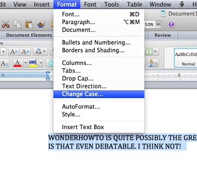 How to instantly change blocks of capitalized text in microsoft how to change cases in word for mac spiritdancerdesigns Gallery