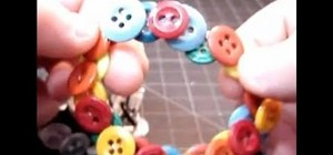 Make a stretchable bracelet out of old buttons
