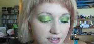 Apply  blue and green eyeshadow