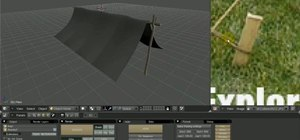 Create a detailed 3D model of a pup tent in Blender