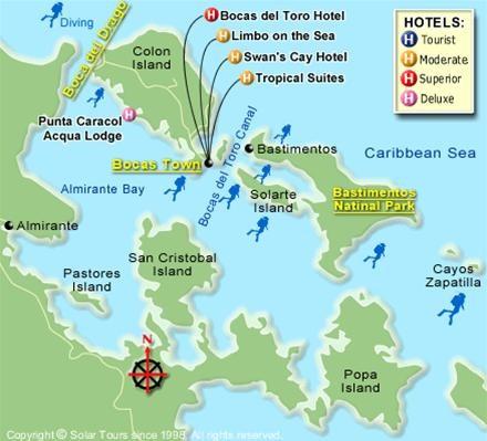 Map of Bocas del Toro, Panama