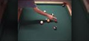 Make an object ball carom shot