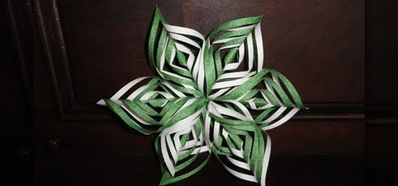 how to craft an intricate lacy paper snowflake decoration for christmas