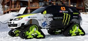 Awesome Modified Subaru is King of Snow and Ice