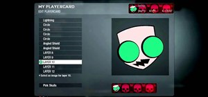 Draw Gir from Invader Zim in the Black Ops Emblem Editor