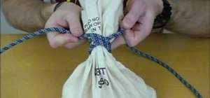 Tie the Miller's Knot (bag or sack knot)