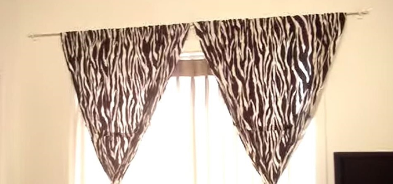 how to hang curtains without making holes in the wall interior