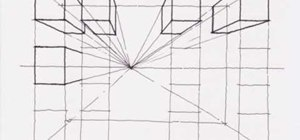 Create a one point perspective drawing