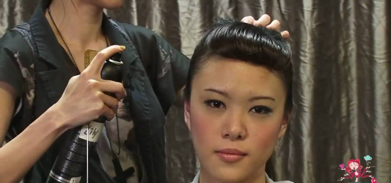 How To Create A Fake Fringe With A Retro Frontal Victory Roll