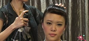Create a fake fringe with a retro frontal victory roll