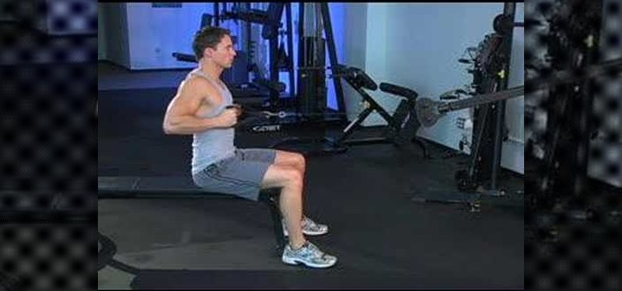 How to Work your back muscles with narrow grip seated rows ...
