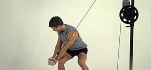 Tone abs with a wood-chopper exercise