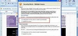 Enable blocked macros in Office 2007