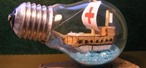 How to Recycle an Old Light Bulb into a Ship in a Bottle