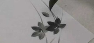 Draw small flowers with sumi-e ink step by step