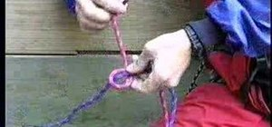 Tie a single fisherman's knot for climbing