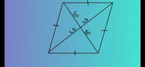 Find the area of a rhombus easily