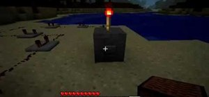 Use Redstone and Repeaters to make a drum pattern in Minecraft