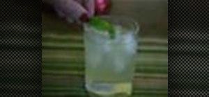 Make the German summer cocktail Gin Basil Smash
