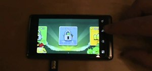 Hack into the locked levels on Angry Birds on a Droid phone