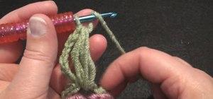 Crochet a left hand radiant flower