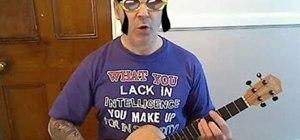 "Play ""Dynamite"" by Taio Cruz on baritone ukulele"