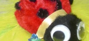 Craft a pom-pom ladybug with your kids