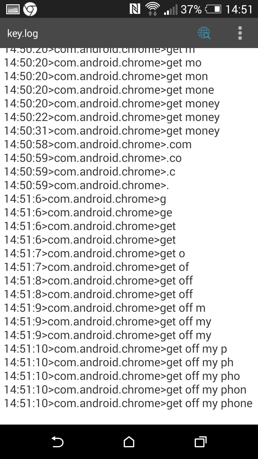 Use a Keylogger to Record What Friends Do on Your Android