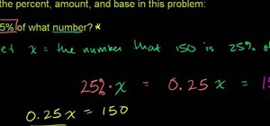 Solve a problem that asks you to identify percent, amount and base