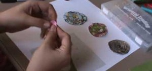 Make paper lollipop flowers to add to your scrapbook