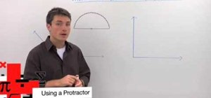 Use a protractor to measure an angle