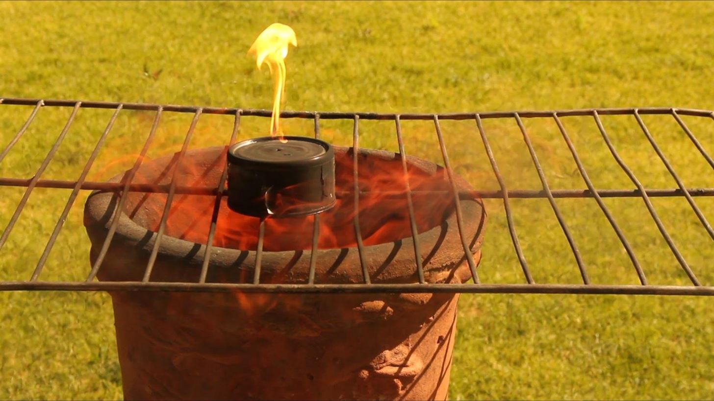 How to Make Fire-Starting Char Cloth from a T-Shirt Using a Tuna Can