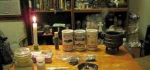 Make self-igniting spell incense