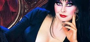 "Create the Elvira ""Mistress of the Dark"" makeup look"
