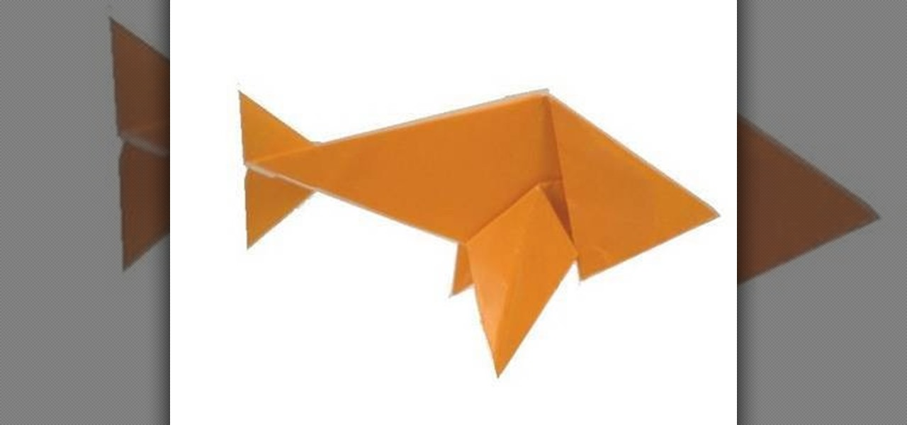 How To Fold An Easy Origami Paper Fish WonderHowTo