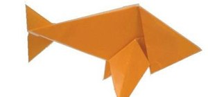 Fold an easy origami paper fish