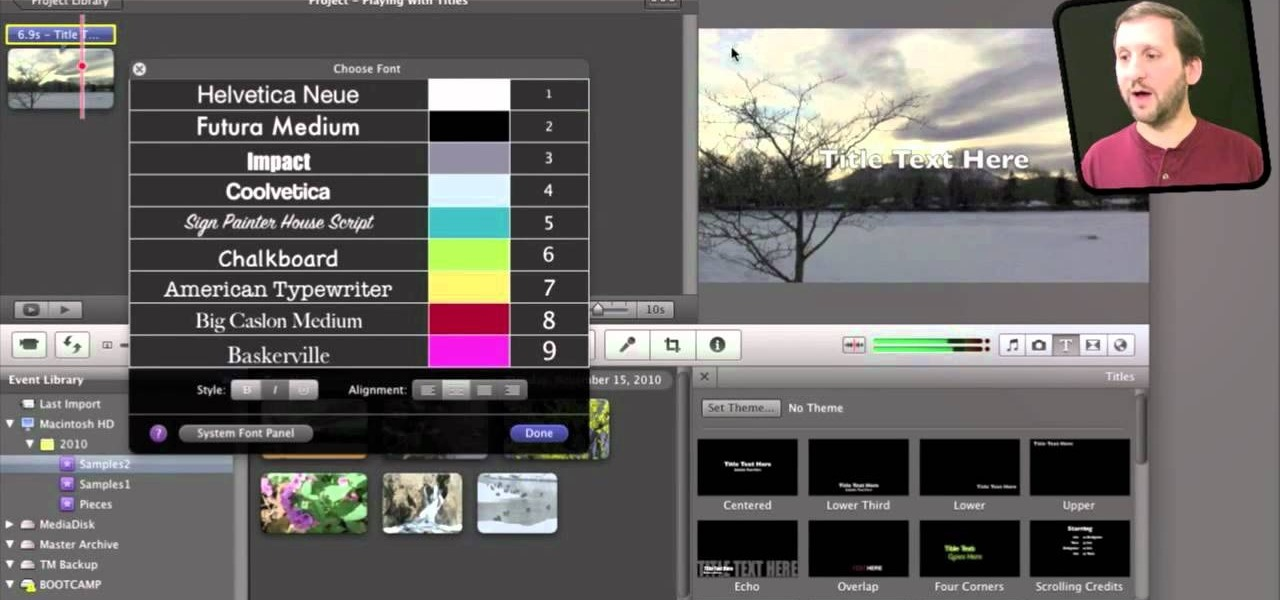 How to Edit or delete a title or effect in iMovie HD « iMovie ...